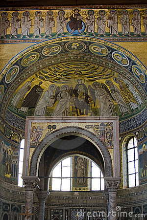 Interior of a famous basilica