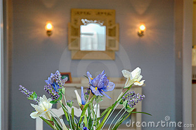 interior flower decor - lavender