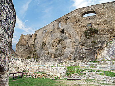 Interior fortification of Spis Castle