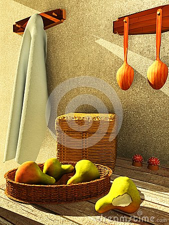 Interior with fruit