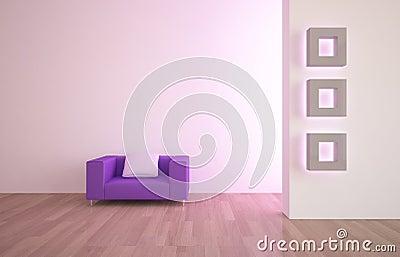 Interior with furniture