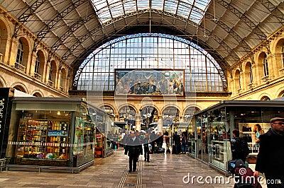 Interior of Gare de l Est Editorial Image
