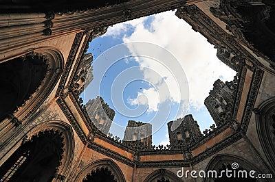 Interior of Gothic church.