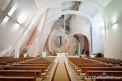 Interior Grande De La Iglesia Moderna Fotos de archivo , Imagen 28810783
