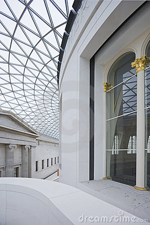 Interior of Great Hall in British Museum. Editorial Photo