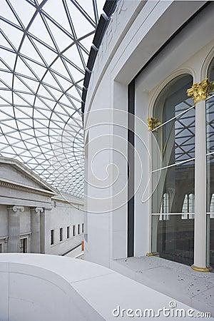 Interior of Great Hall in British Museum. Editorial Photo