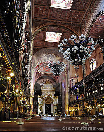 Interior of the Great Synagogue, Budapest