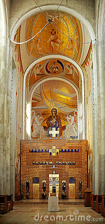 Interior of Greek Cathlic cathedral in Cluj Napoca