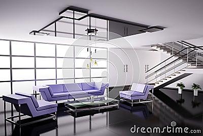 Interior of hall 3d