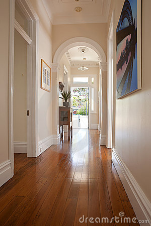 Interior Hallway Entrance Doorway Royalty Free Stock