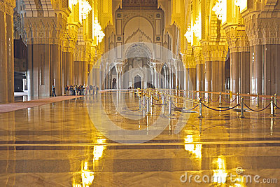 Interior of the Hassan II Mosque Casablanca Morocco Editorial Stock Image
