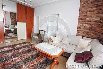 Interior of a home den