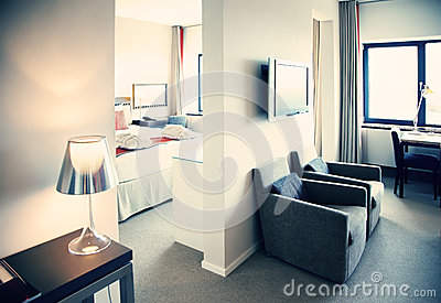 Interior of hotel suit