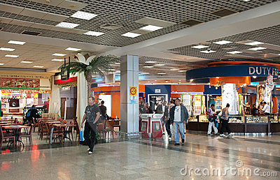 Interior of Hurghada International Airport Editorial Image