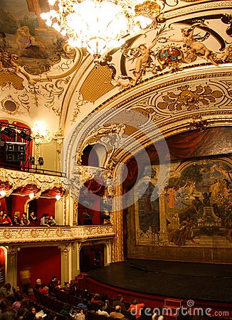 Interior of the Iasi National Theatre Editorial Stock Image