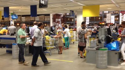 Interior of ikea store naples stock video video 44908083 for Ikea call center careers