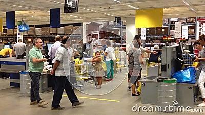 interior of ikea store naples stock video video 44908083