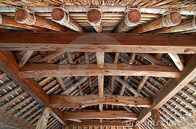 Interior of Japanese roof