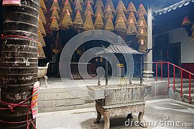 Interior. Kun Iam temple, Macau.