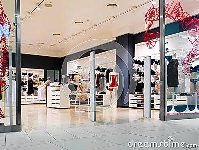 Interior of lingerie shop