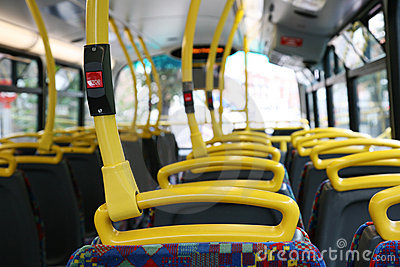 Interior of London City Bus