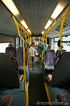 Interior of London City Bus Editorial Photography
