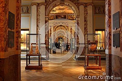 Interior - Louvre Editorial Stock Image