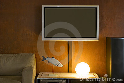 Interior with LSD television set