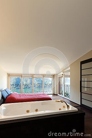 Interior luxury apartment, jacuzzi