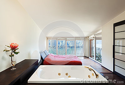 Interior luxury apartment, jacuzzi