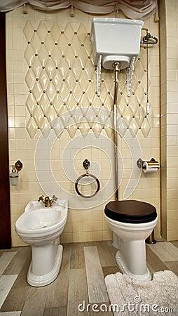 Interior of luxury vintage bathroom