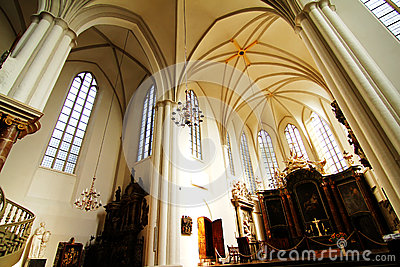 Interior of the Marienkirche in Berlin, Germany