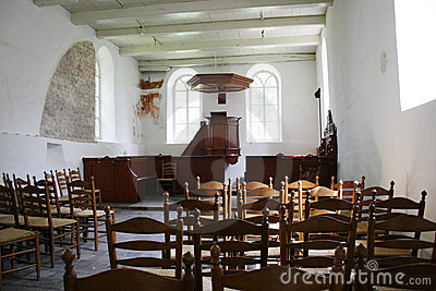 Interior of medieval church