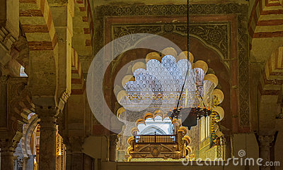 Interior of Mezquita-Catedral, Cordoba, Spain