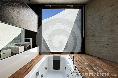 Interior, modern bathroom