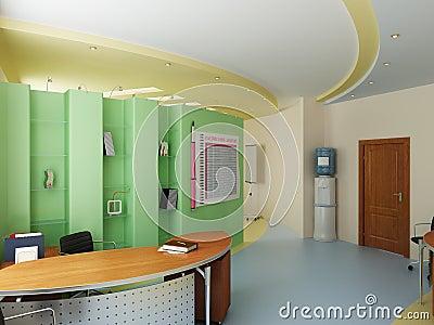 Interior of a modern cabinet