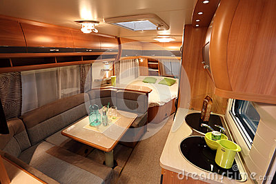 Interior of a modern camper van Editorial Photo