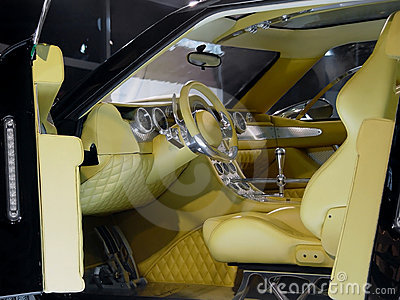 Interior of modern car