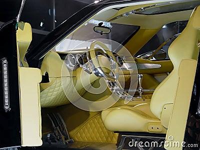 Interior of modern car