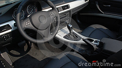 The interior of a modern car
