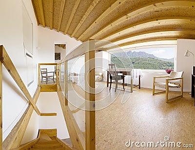 Interior, modern chalet