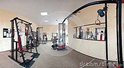 Interior of modern gym