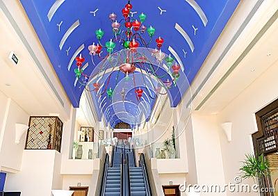 Interior of modern luxury hotel