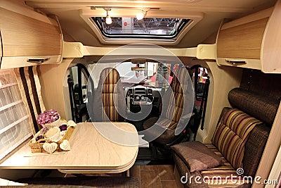 Interior of a modern motorhome Editorial Stock Photo