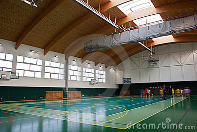 Interior of a modern multifunctional gymnasium Editorial Stock Image