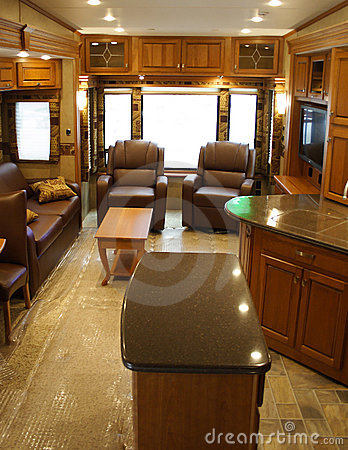 Interior of Modern Recreational Vehicle