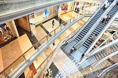 Interior of modern shopping mall Editorial Photography