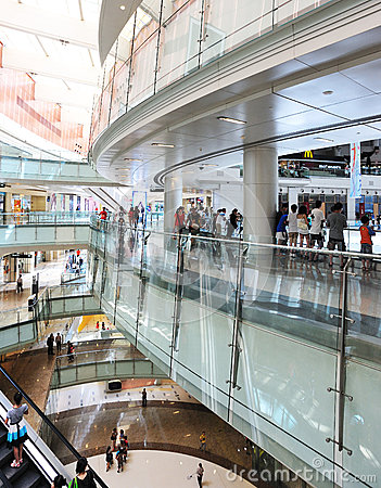 Interior of modern shoppingmall Editorial Stock Photo