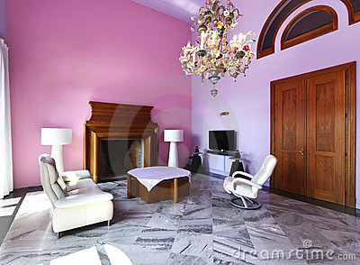 Interior modern style villa