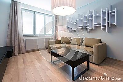 Interior moderno da sala de visitas